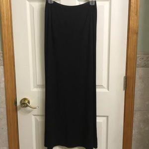 J Jill Wearever Black maxi skirt size medium tall
